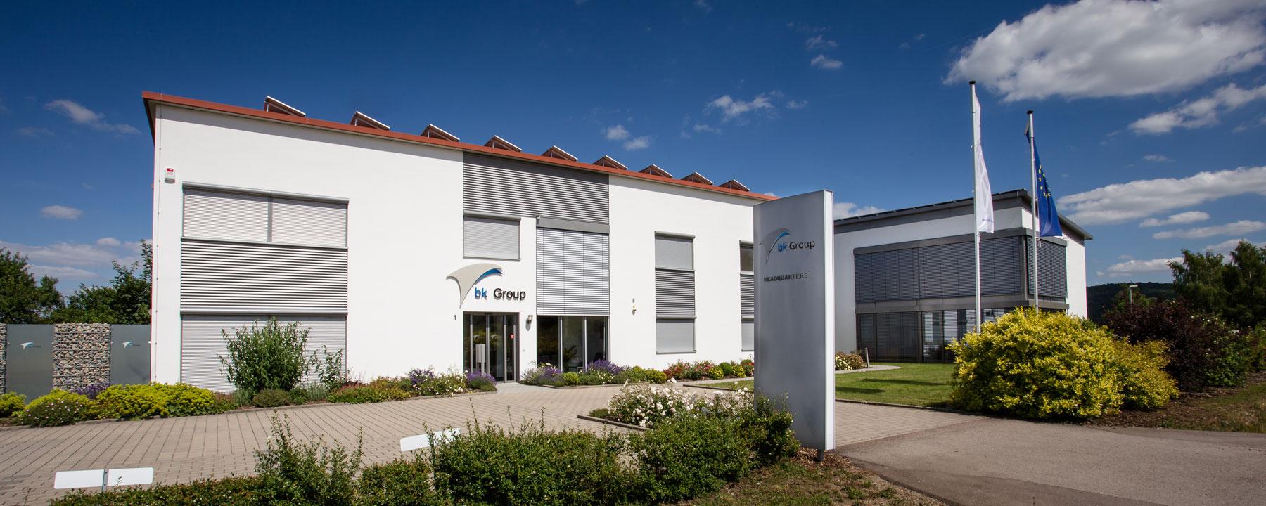 Das Bürogebäude der Firma bk Group